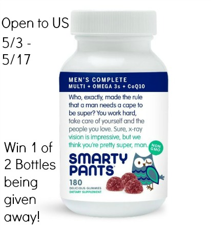 SmartyPants Men's Complete Supplement Giveaway Ends 5/17 Good Luck from Tom's Take On Things