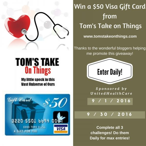 Plan for future health care decisions and win a $50 Visa Gift Card Good Luck from Tom's Take On Things