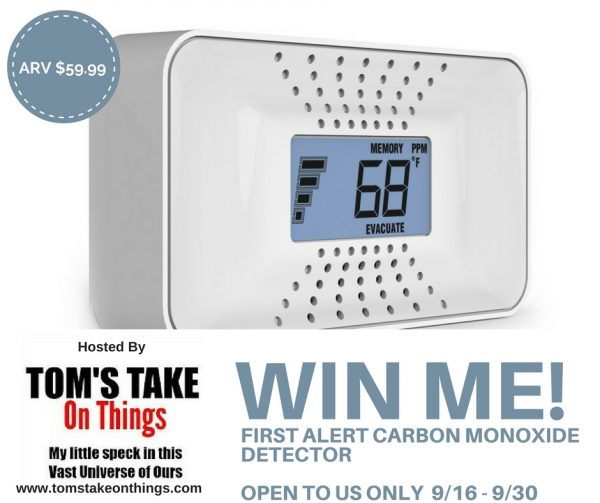 Win a First Alert Carbon Monoxide Detector - Keep your home safe!