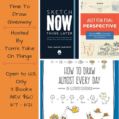 Time to draw giveaway ~ 3 different drawing books to win Ends 11/21